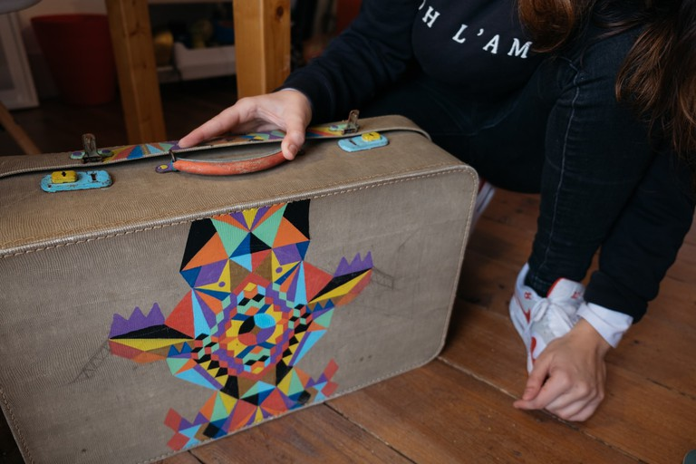 WATSON - LISBON, PORTUGAL - KRUELLA D 'ENFER'S SUITCASE WITH HER OWN DESIGN
