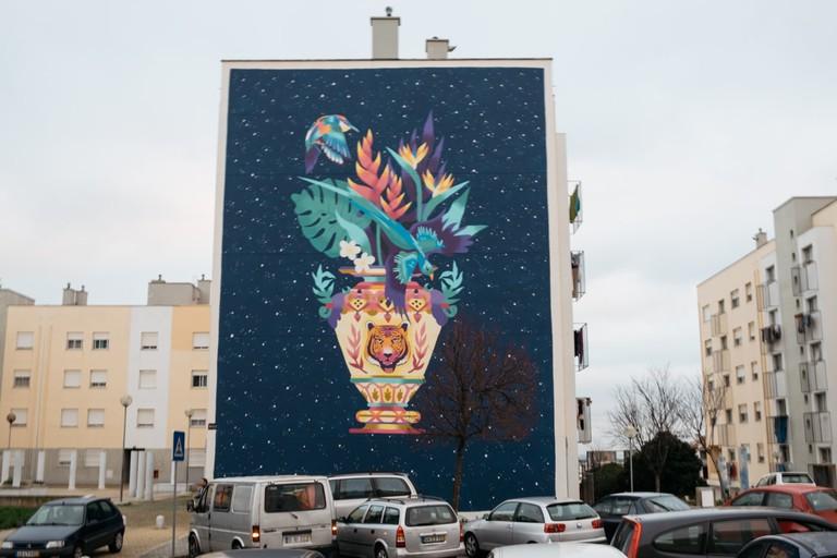 Kruella's street art in Marvila neighborhood