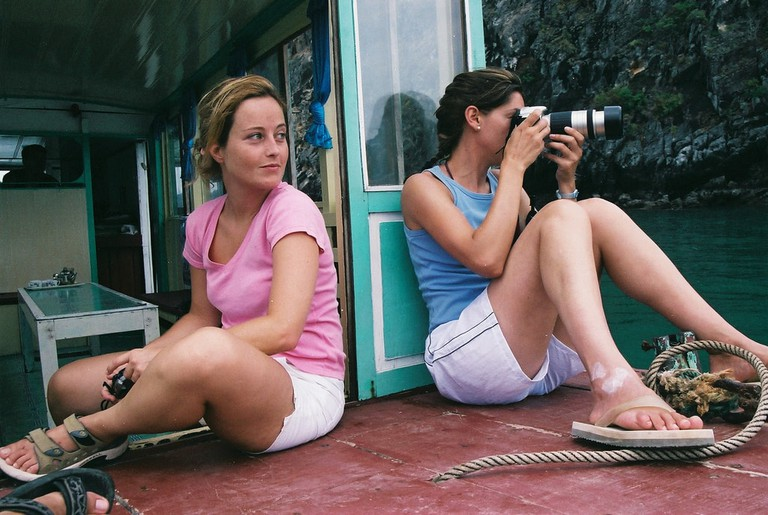 Traveling through Ha Long Bay