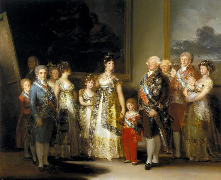 La Familia de Carlos IV by Francisco de Goya