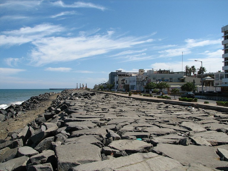 The Seawall Promenade is one of the most recognisable landmarks in Pondicherry