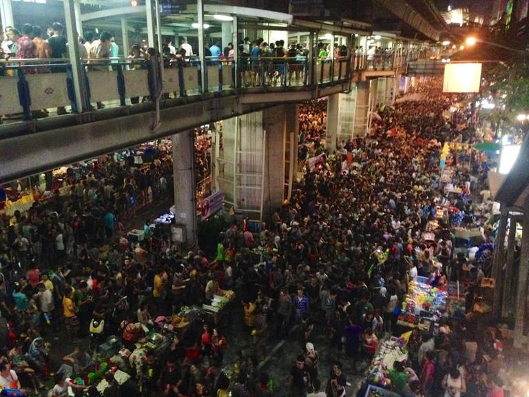 Songkran in Silom