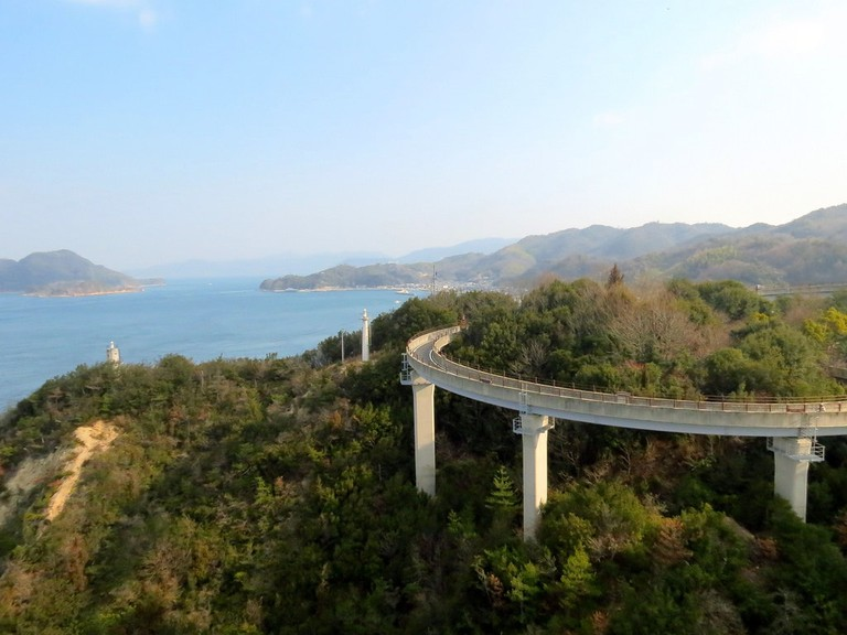 Part of the Shimanami Kaido bicycle pathway over the Seto Inland Sea