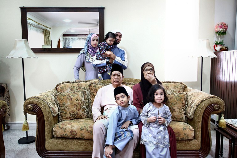 An Indonesian family during Eid