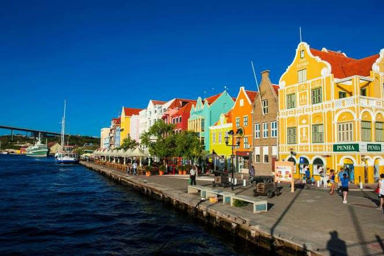 The Colors of Curacao on Queen Emma Bridge