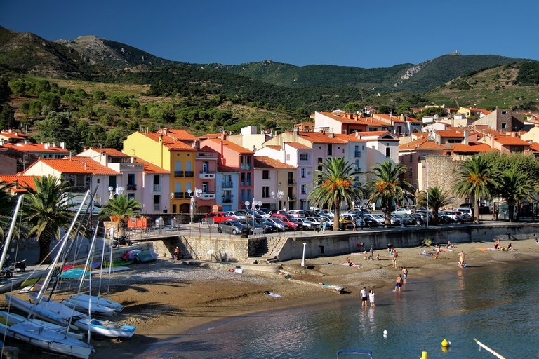 The scenic town of Collioure by the sea