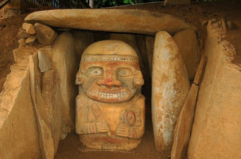 A statue at El Purutal