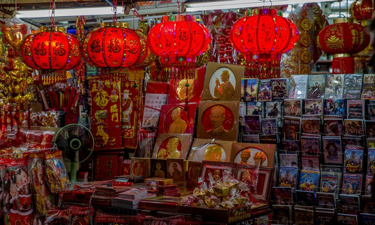 Inside a store in Bangkok's Chinatown