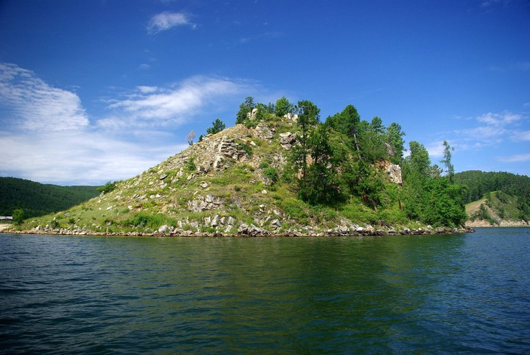 An island on lake Baikal