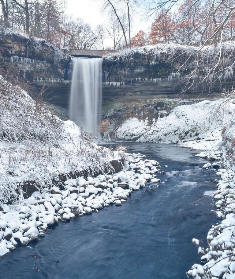 Winter at Minnehaha Falls | © lawepw/Flickr
