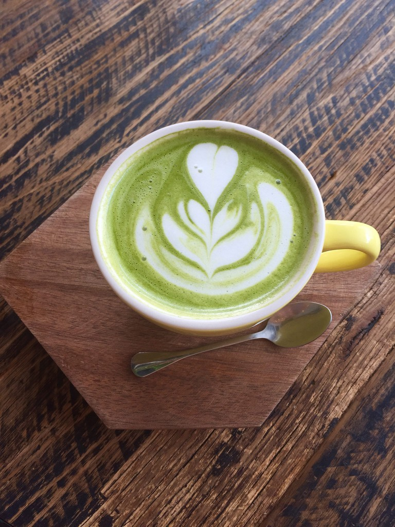 Matcha latte at Leto