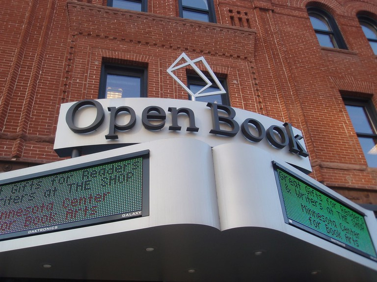 Open Book Marquee in Minneapolis | © Mykl Roventine/Flickr