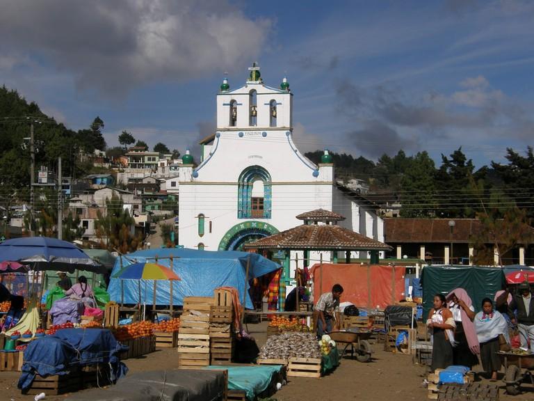The Chamula church on Market Day │