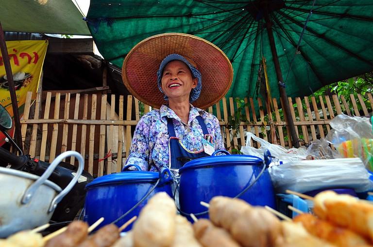 A big, beaming Thai smile