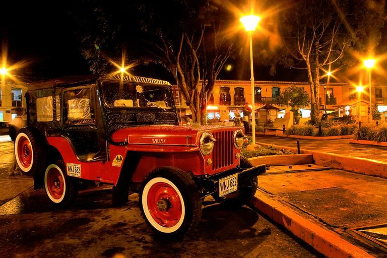 The main square of Filandia at night