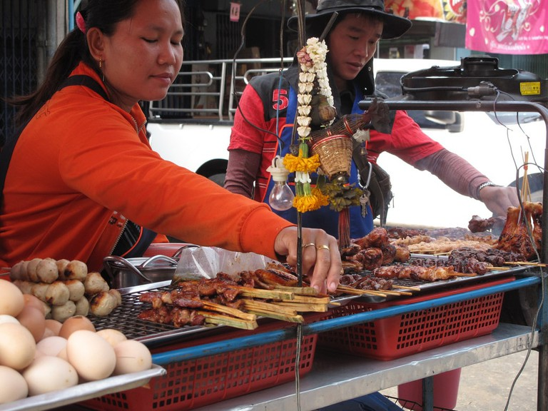 Meat sellers at Khlong Toei Market