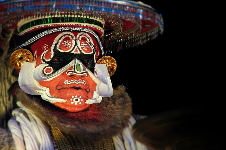 Kalamandalam Ramankutty Nair as Hanuman. Photography by Hareesh N. Nampoothiri (Haree), NEWNMEDIA™.