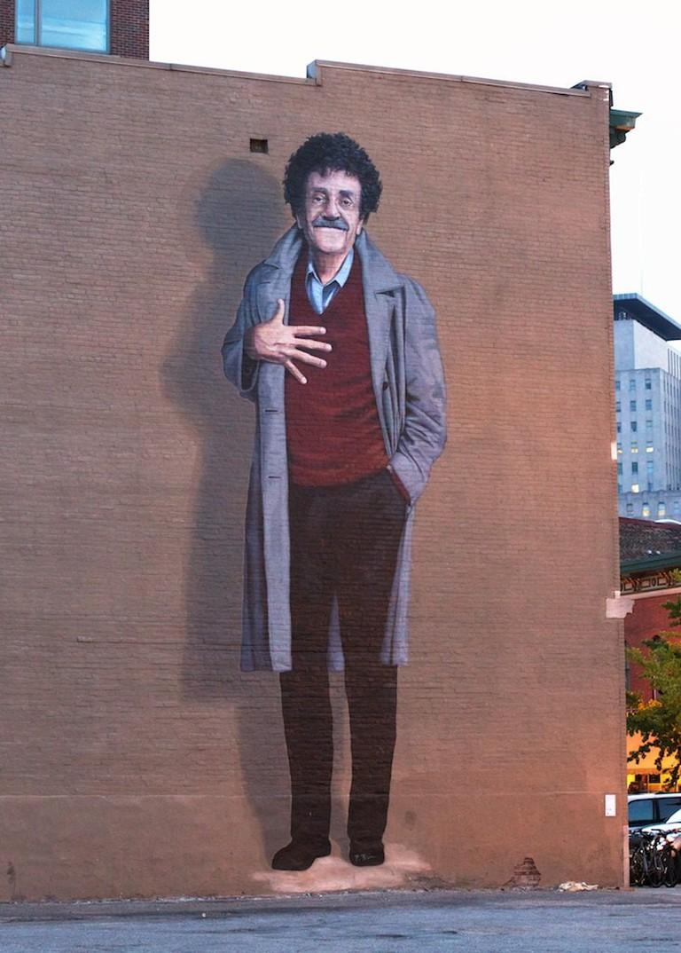 Kurt Vonnegut Mural, Indianapolis | © Christopher Murphy/Flickr