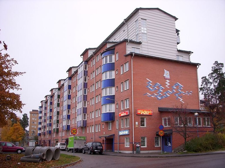Some of the houses, like this block in Rinekby, have been updated
