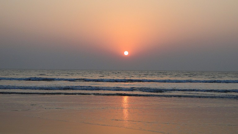 Sunset at Guhagar Beach in Maharashtra