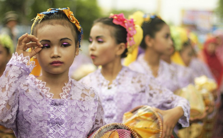 Traditional parade in Indonesia