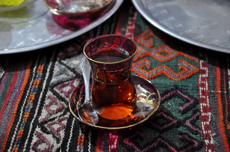 A hot cup of Iranian tea