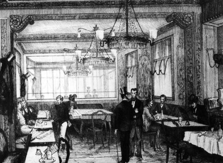 A_gravure_of_Le_Cafe_Procope_in_XIX_quarter_in_Paris