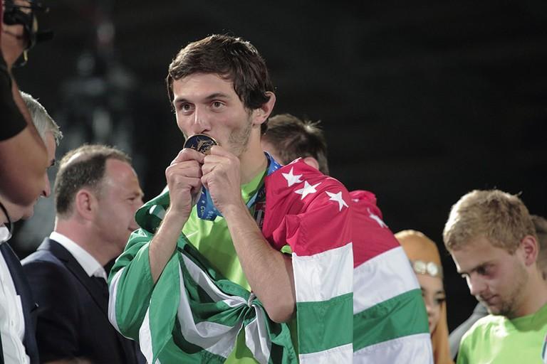 Abkhazia winning the 2016 CONIFA World Cup.