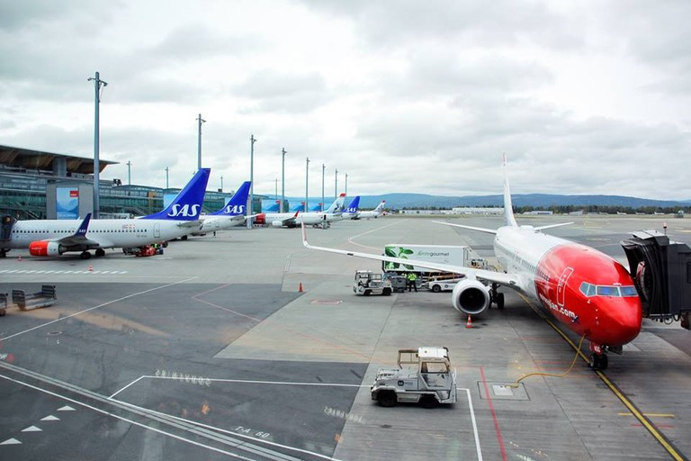 An electric fleet is so much better for the environment | Courtesy of Oslo lufthavn Gardermoen