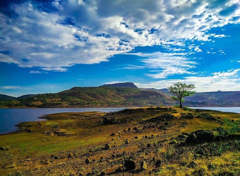 Banks of Pawana Lake