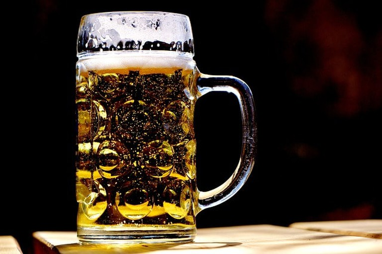 A refreshing tankard of beer