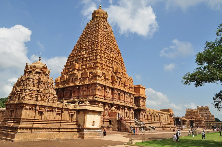The Brihadeeswarar Temple is one of the most prominent examples of Chola architecture