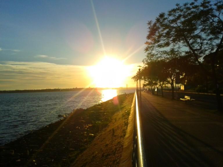 The Parana riverfront