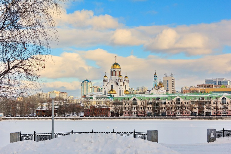 Ekaterinburg in the snow
