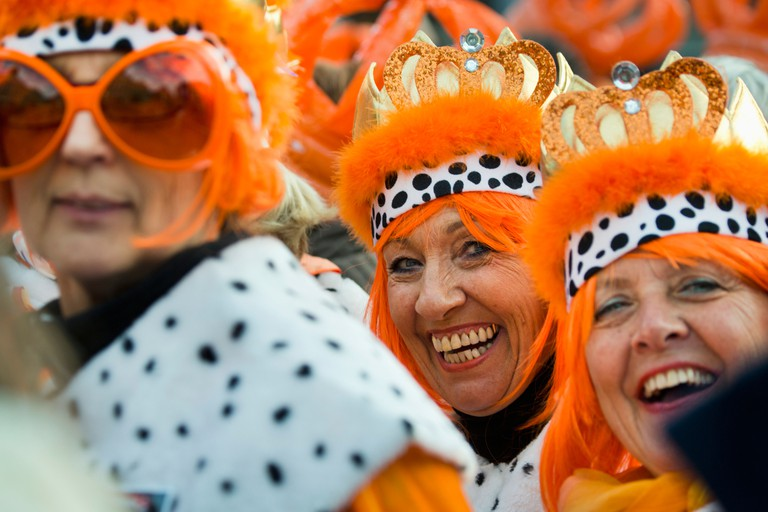 People celebrate on King's Day, The Netherlands
