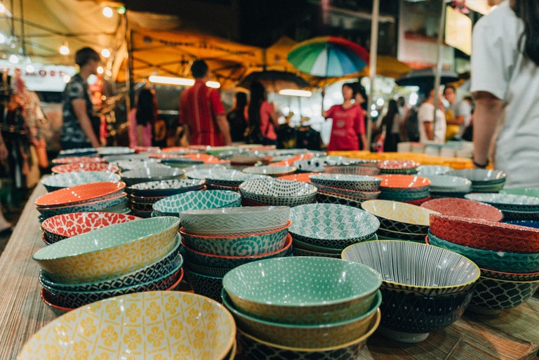 You can even find stuff for your kitchen in this busy night market