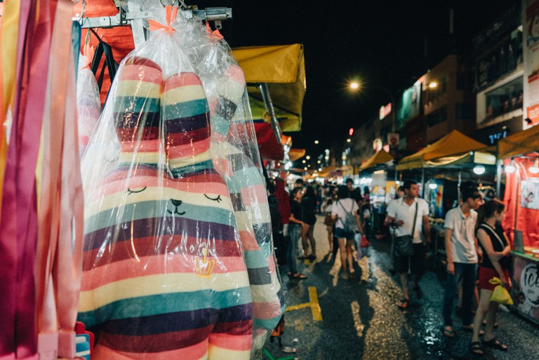 Most people would go to the night market after they finish work