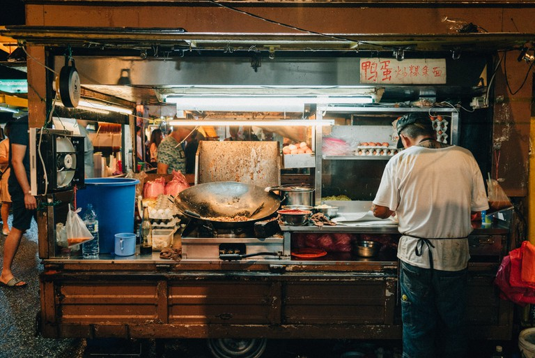 You can enjoy hot and freshly cooked fried noodles from one of the many food trucks