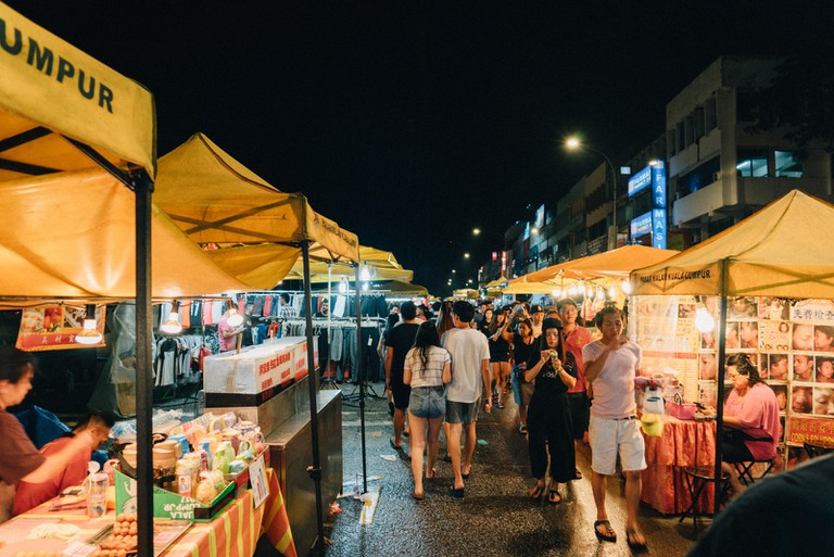 Expect rows and rows of hawker stalls selling street food and other products