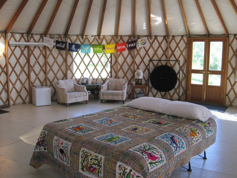 Living Heart Yurt | Courtesy of Ellen/Airbnb
