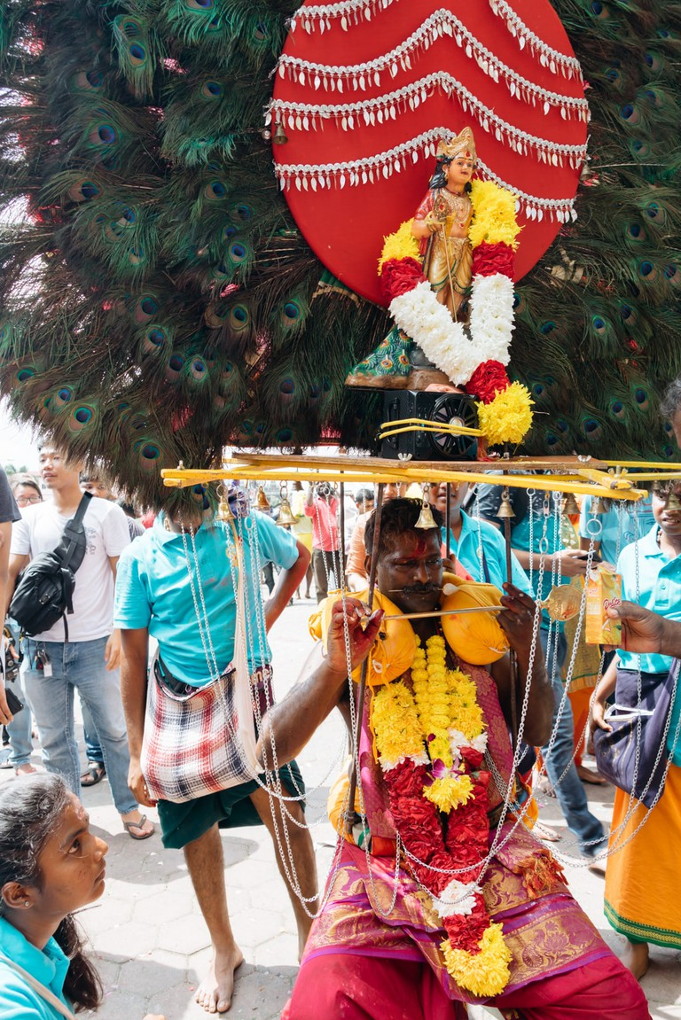 Kavadi bearers are highly respected and honoured during the festival