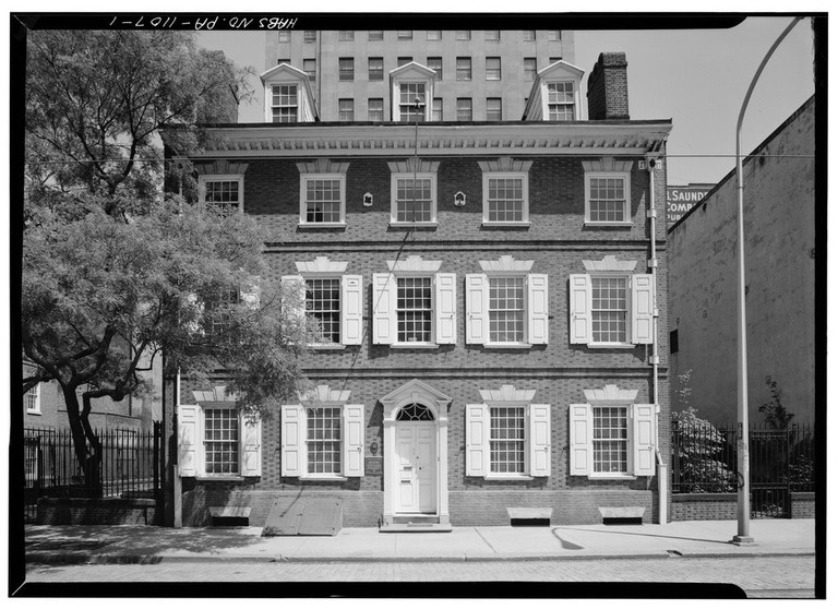 GENERAL_VIEW_AND_WEST_(FRONT)_ELEVATION,_AFTER_RESTORATION_-_Reynolds-Morris_House,_225_South_Eighth_Street,_Philadelphia,_Philadelphia_County,_PA_HABS_PA,51-PHILA,40-1.tif