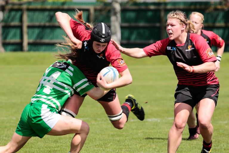 Girls College Rugby   © vjpaul / Flickr