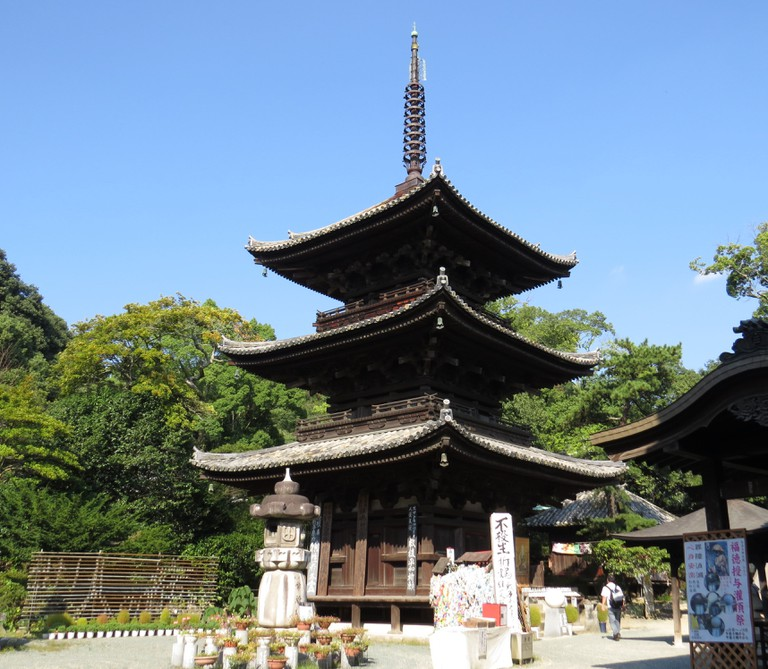Ishitenji Temple in Matsuyama, one of 88 temples on the pilgrimage