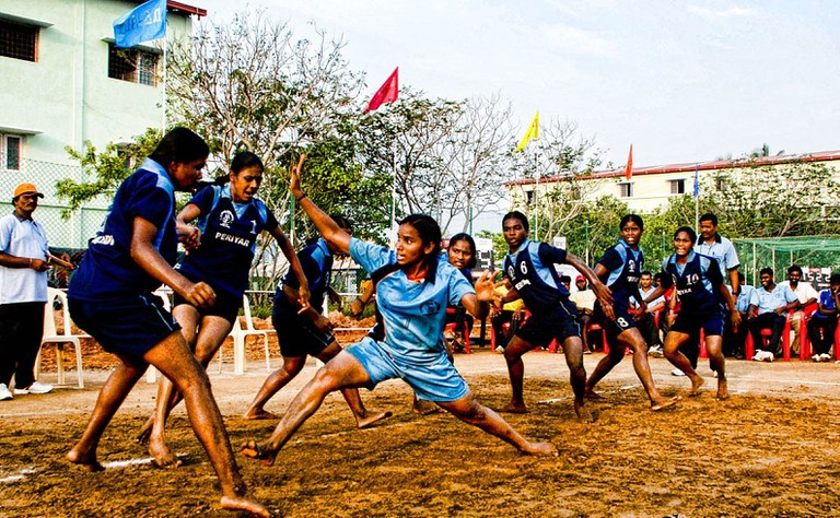 Women playing kabaddi in Tamil Nadu