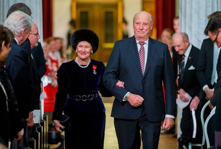 King Harald and Queen Sonja   © Vegard Wivestad Grøtt : NTB scanpix, Courtesy of NRK