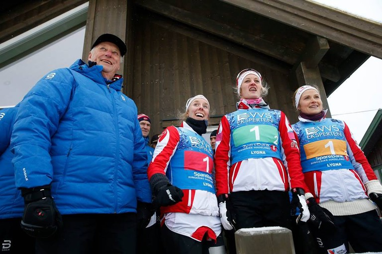King Harald never misses a ski event   © Terje Bendiksby : NTB SCANPIX, Courtesy of Kongehuset