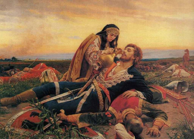 A famous Battle of Kosovo painting by Uroš Predić