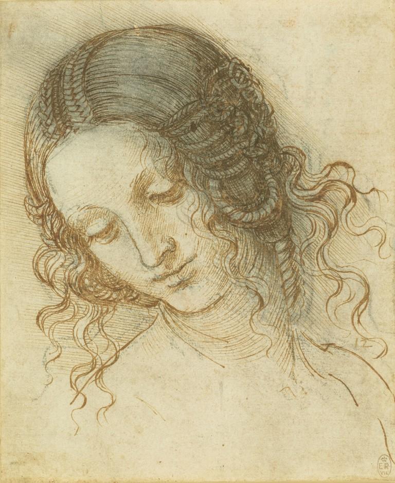 Leonardo da Vinci, The head of Leda, c.1505–8 | Royal Collection Trust / © Her Majesty Queen Elizabeth II 2018