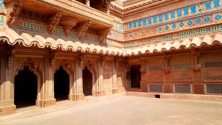 Intricate designs and architecture inside the Man Mandir Palace